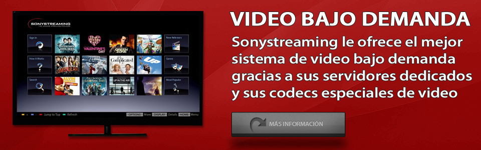 Sonystreaming - Video bajo demanda